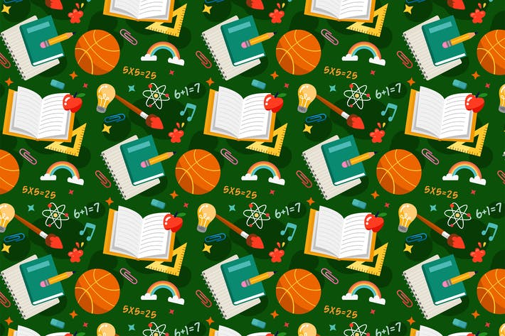 Thumbnail for School Pattern Background