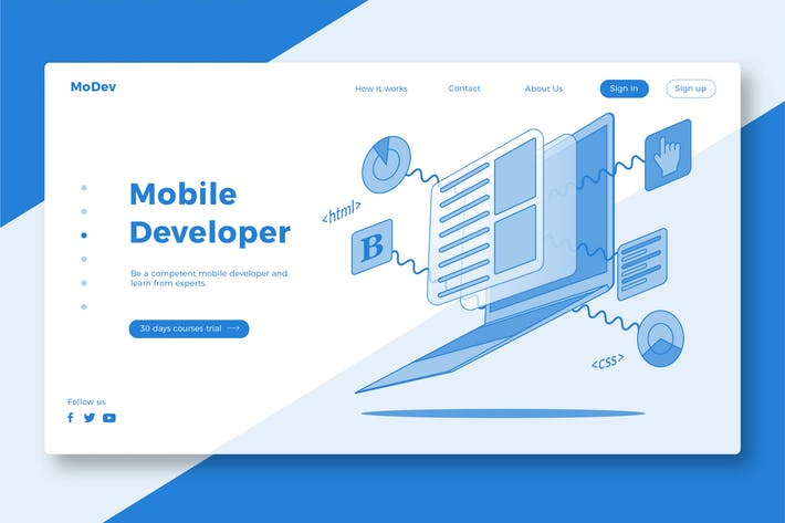 Thumbnail for Mobile Developer - Banner & Landing Page