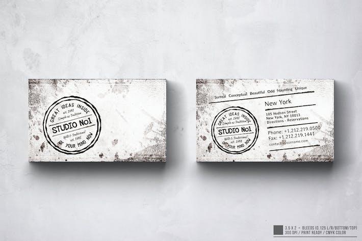 Thumbnail for Vintage Business Card Design