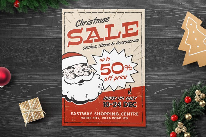 Thumbnail for Vintage Christmas Sale Flyer