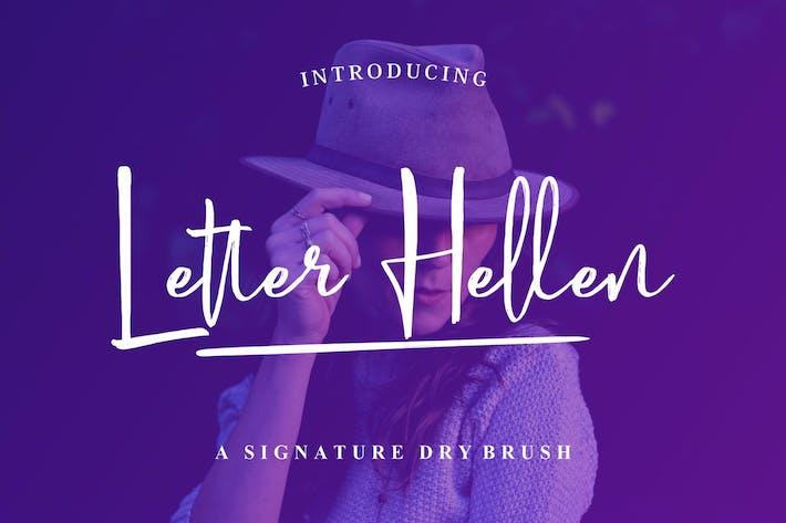 Thumbnail for Letra Hellen | Fuente de firma
