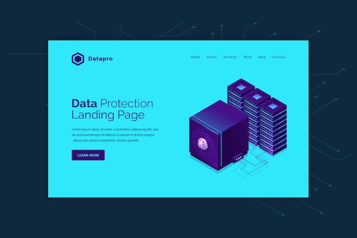 Thumbnail for Datapro - Banner de héroe de protección de datos
