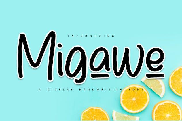 Migawe | Display Handwriting Font