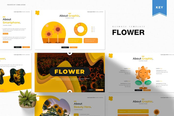 Thumbnail for Flower | Keynote Template