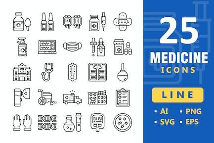 25 Medicine Icons - Line