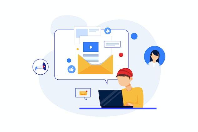 Email Marketing concept - Digital Marketing