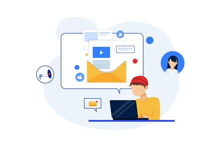 Thumbnail for E-Mail Marketing Konzept - Digital Marketing