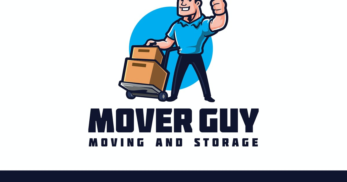 Download Retro Mover Guy Character - Moving Service Logo by Suhandi