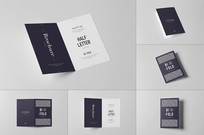 Thumbnail for Bi-Fold Brief-Broschüre Mock-up