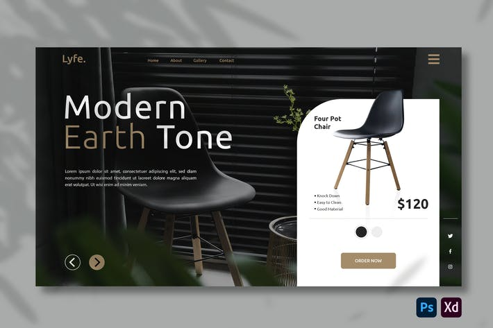 Furniture E-commerce | Hero Header