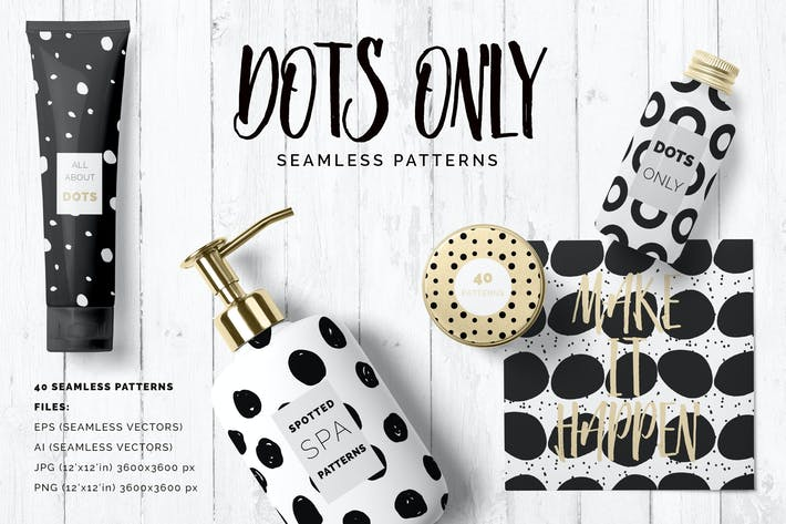 Thumbnail for Dots & Spots Seamless Patterns