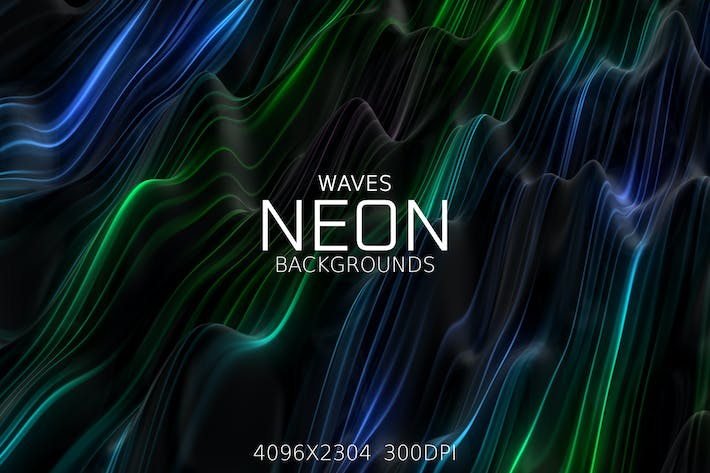 Thumbnail for Neon Waves Backgrounds