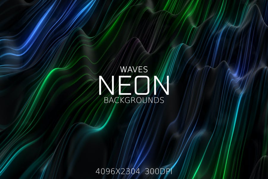 Neon Waves Backgrounds