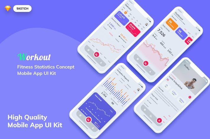 Thumbnail for Fitness Statistics MobileApp Light Version(SKETCH)
