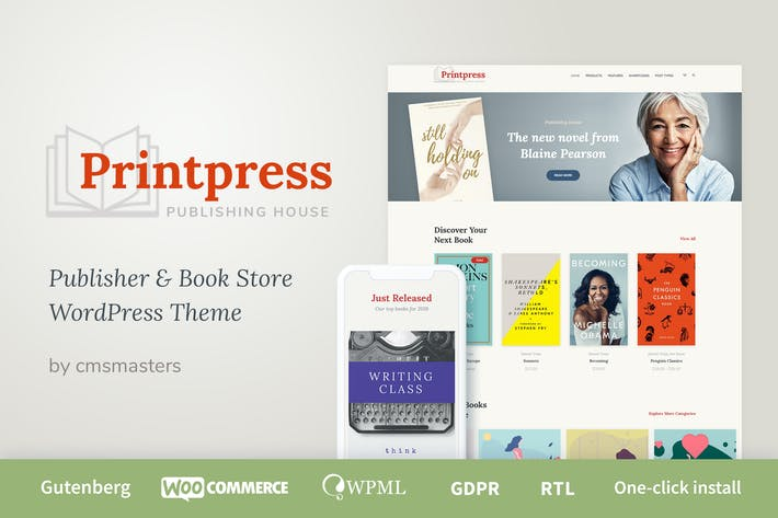 Thumbnail for Printpress - Book Publishing WordPress Theme