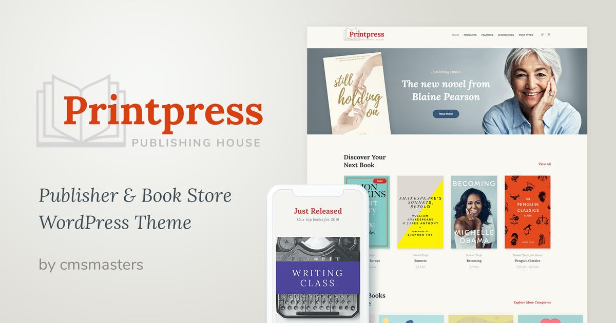 Download Printpress - Book Publishing WordPress Theme by cmsmasters