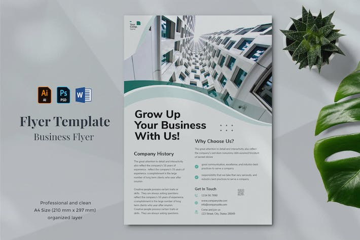 Thumbnail for Business Flyer Template 28