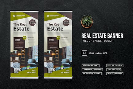 The Real Estate - Roll Up Banner