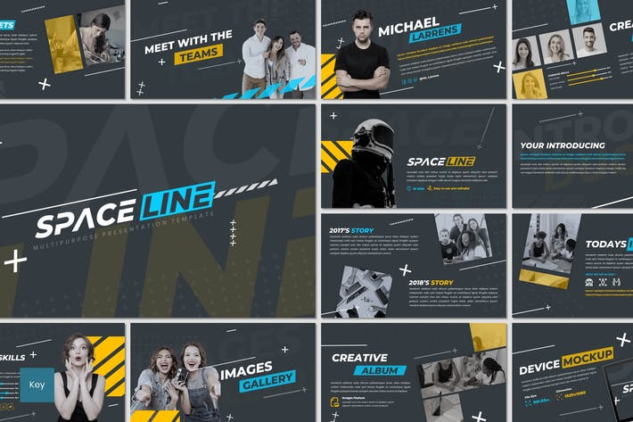Thumbnail for Space Line - Keynote Template