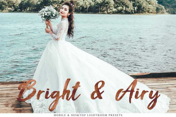 Cover Image For Bright & Airy Mobile & Desktop Lightroom Presets