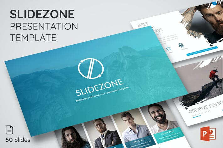 Thumbnail for SLIDEZONE Powerpoint Presentation Template