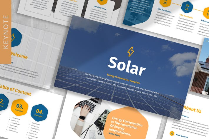 Thumbnail for Шаблон ключевых заметок «Солнечная энергия»