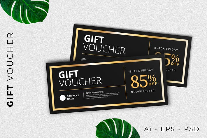 Classic Gift Voucher Card Promotion