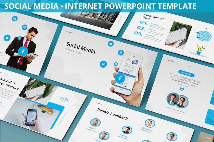 Thumbnail for Social Media - Internet Powerpoint Template