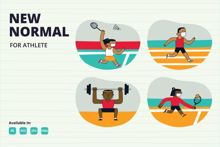 New Normal for athlete doodle