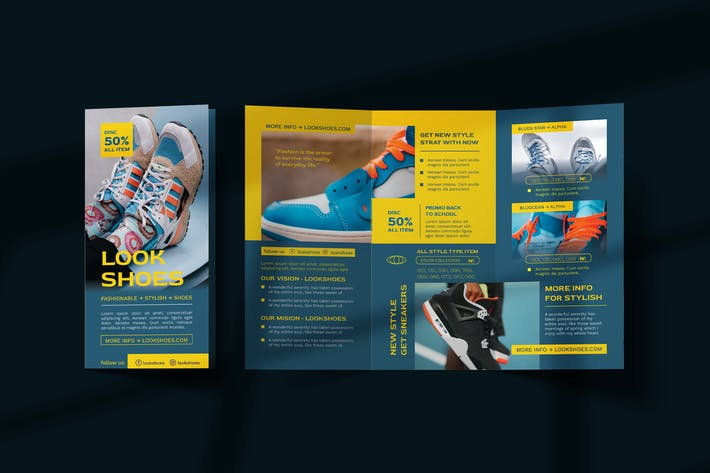 Thumbnail for Footwear and fashion Trifold Brochure