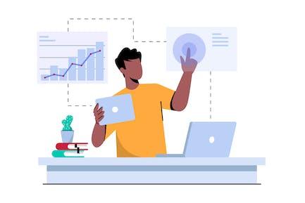 Business Analysis & Data Statistic Illustration