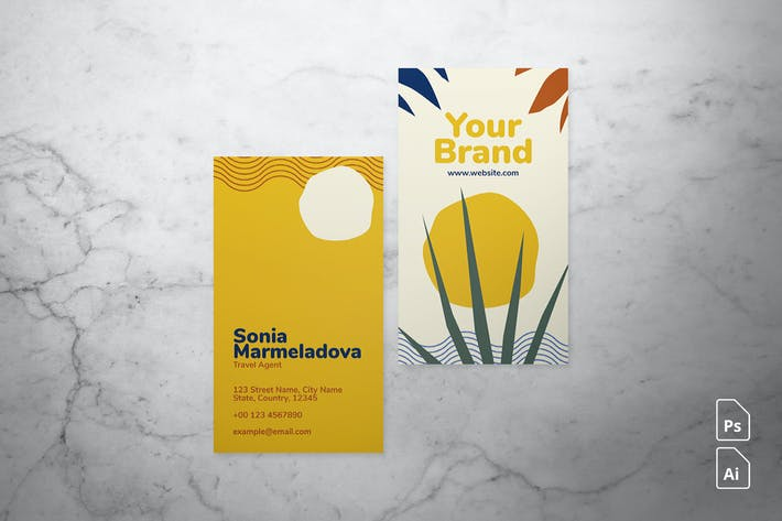 Thumbnail for Abstract Tropical Business Card