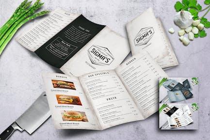 Minimal Trifold Food  Menu Bundle