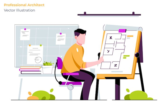 Thumbnail for Professional Architect - Vector Illustration