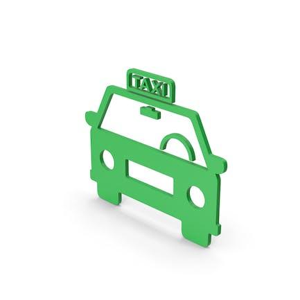 Symbol Taxi Green