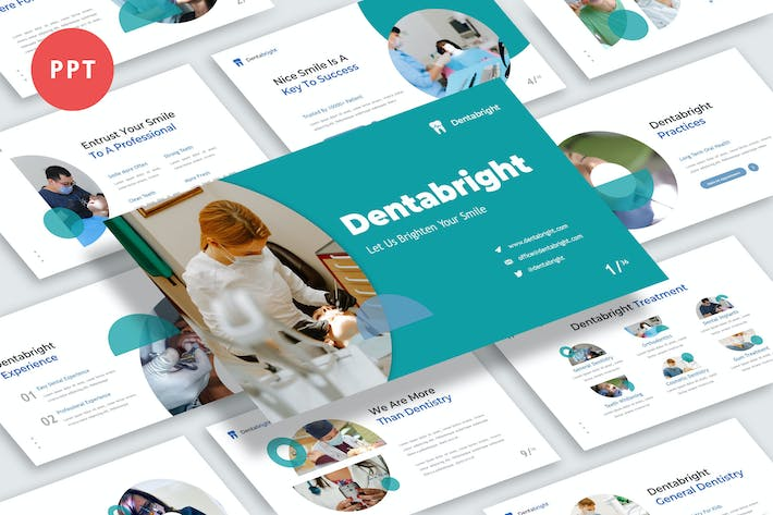 Thumbnail for Dentabright Powerpoint Template