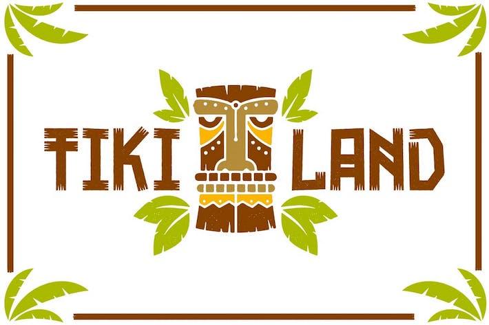 Thumbnail for Tikiland - Fun Unique Display Font