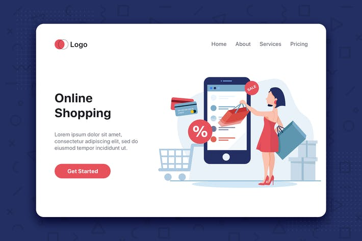 Thumbnail for Young woman shop online using smartphone
