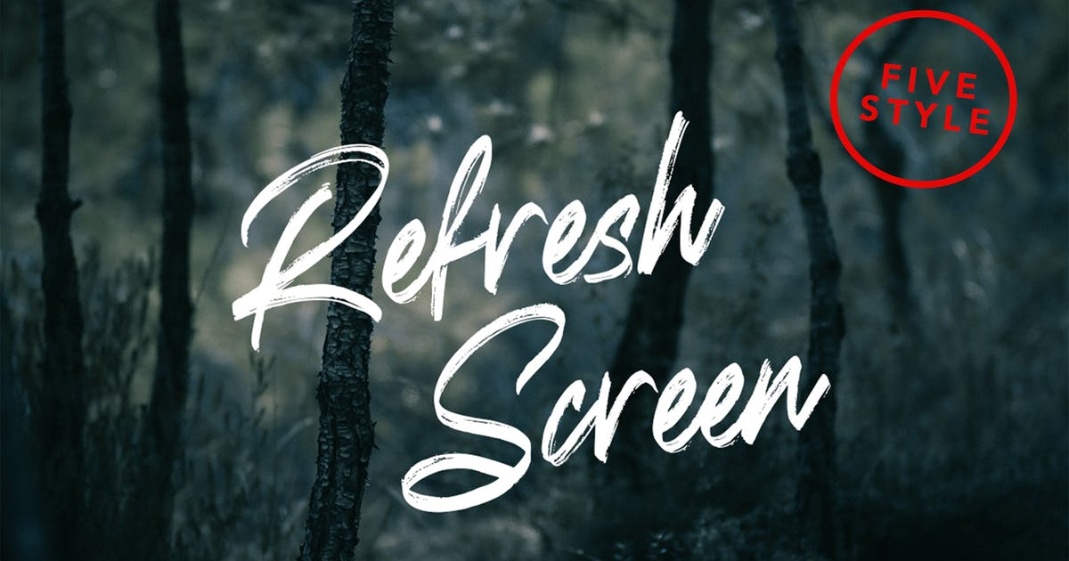 Download Refresh Screen Nature Family Font by arendxstudio
