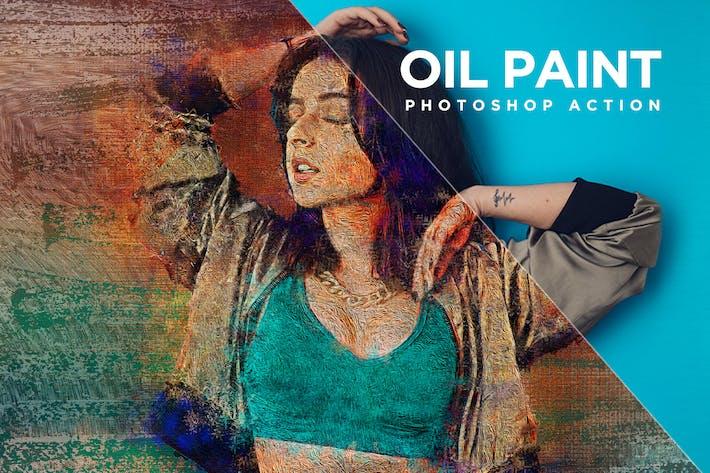 Маслокраска Photoshop Action Kit