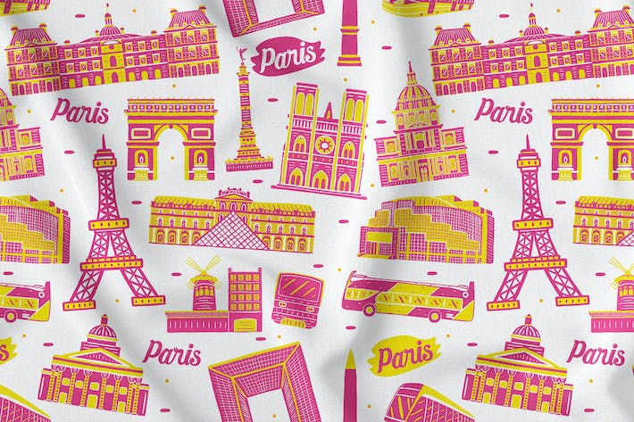 Thumbnail for Paris Seamless Pattern