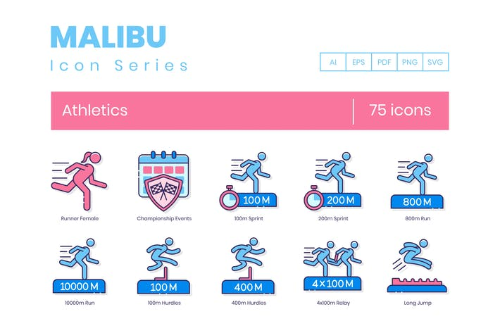 Thumbnail for 75 Athletics Line Icons