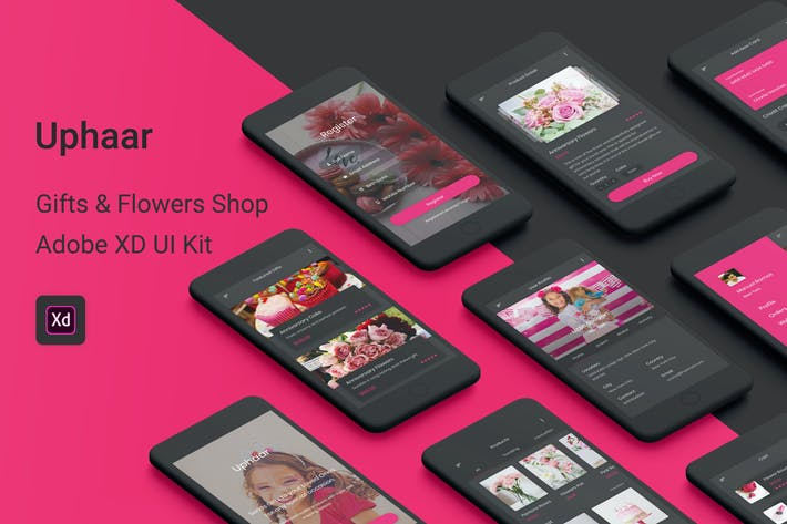 Thumbnail for Uphaar - Gifts & Flowers Shop Adobe XD UI Kit