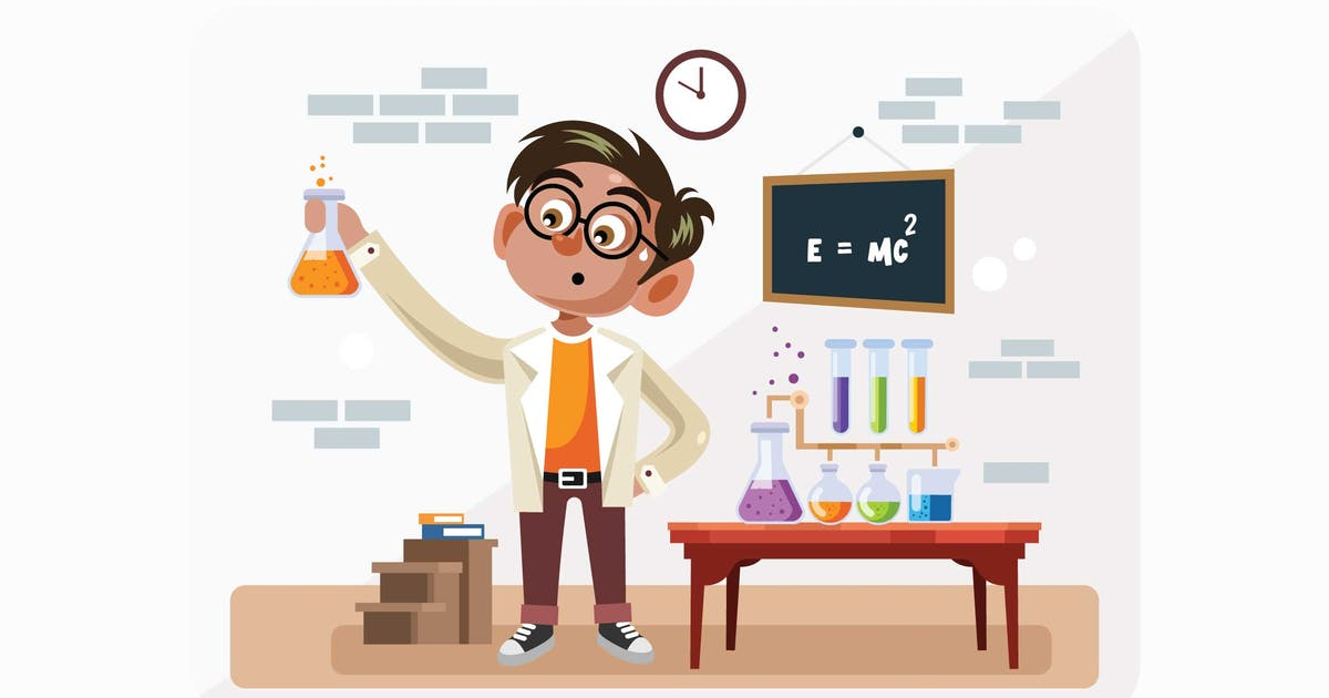 Download Student in Science Class Vector Illustration by IanMikraz