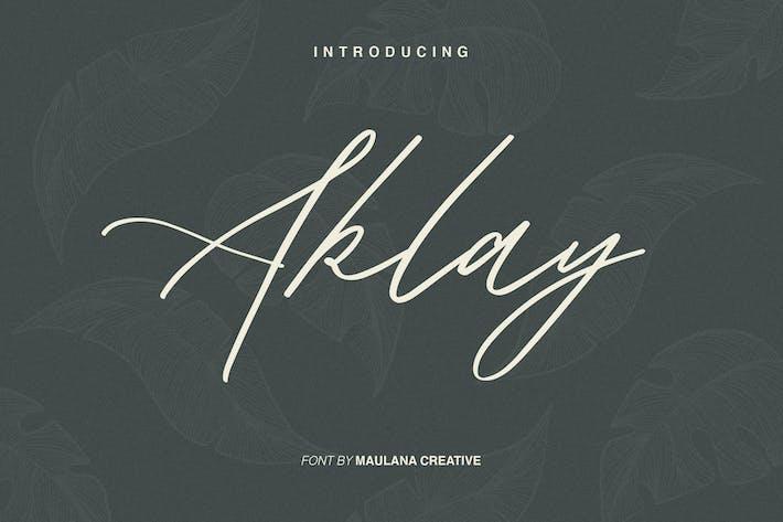 Thumbnail for Aklay - Handwritten Font