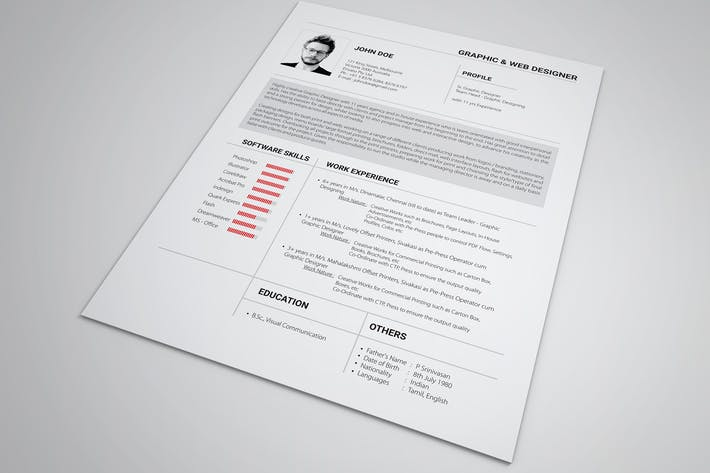 Cover Image For Resume Set