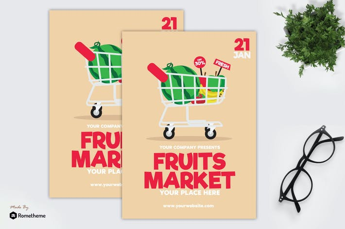 Thumbnail for Fruits Market - Flyer GR