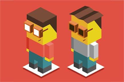 3D Pixelate Boys