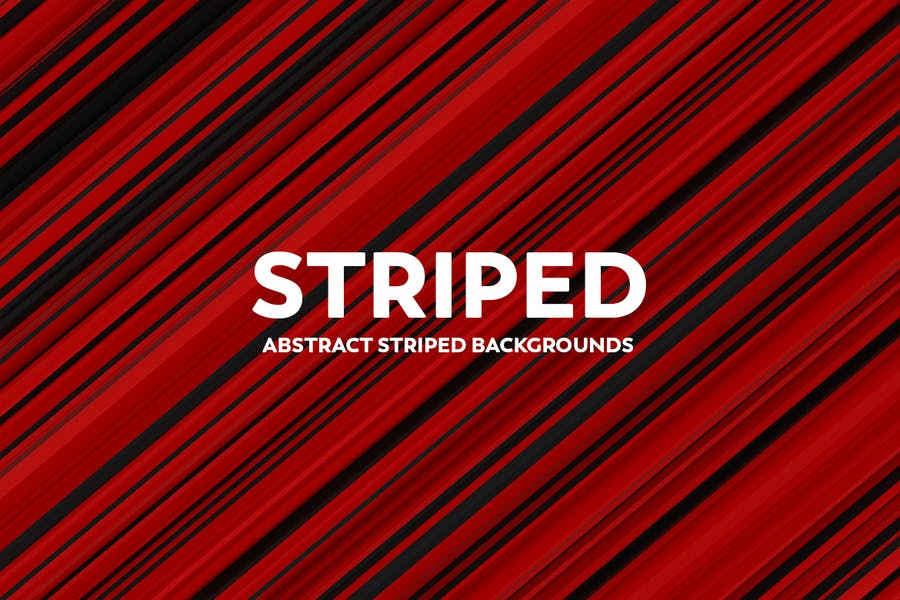 Abstract Striped Backgrounds -Red & Black