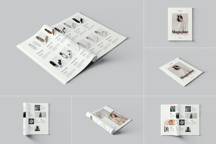 Maquettes Photoshop Magazine